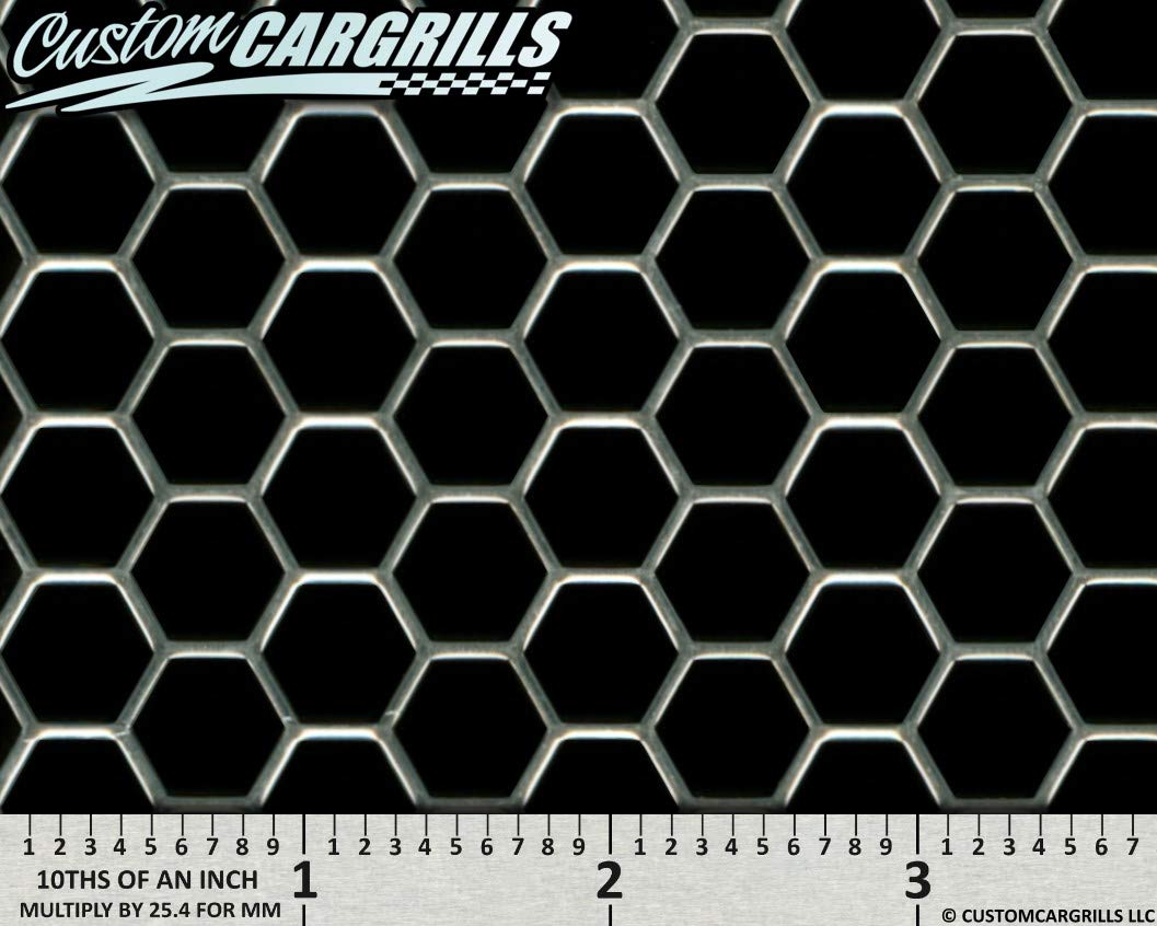 Silver CCG 16x48 Perf Hexagon XXL Grille Mesh Sheet