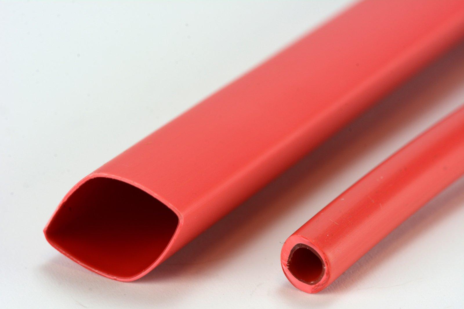 "3 Lot TEMCo 1/2"" Marine Heat Shrink Tube 3:1 Adhesive Glue Lined 4 ft RED"