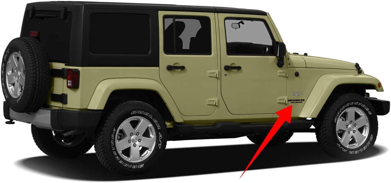 Matte White Demupai Side Door Decals Vinyl Sticker for Jeep Wrangler Sahara