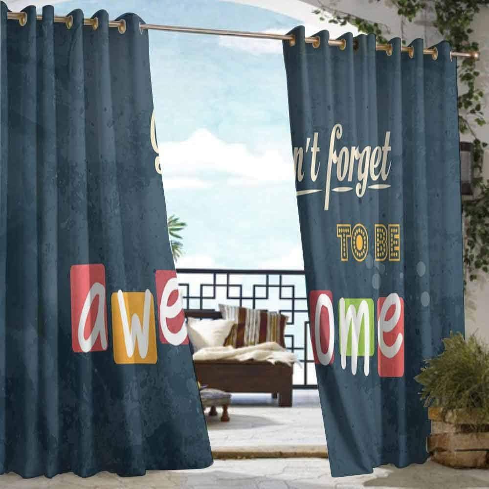 DILITECK Cortina de Puerta corredera, inspiradora motivadora, con Diferentes Fuentes, Vintage, Fondo Feliz para Patio/Porche Frontal: Amazon.es: Jardín