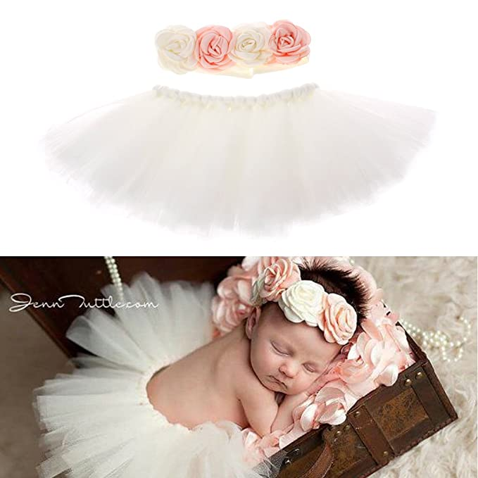 cfd83e12d Amazon.com: cici store Newborn Toddler Girl Tutu Skirt Dance Dress  Photography Photo Props Costume Outfits: Clothing