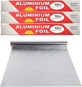 JINHUI Non-Stick Aluminum Foil, Premium Heavy Duty Aluminum Catering Kitchen Wrapping Baking Tin Foil   Cooking, Grilling & Wrapping Sandwiches (30cm x 30m)