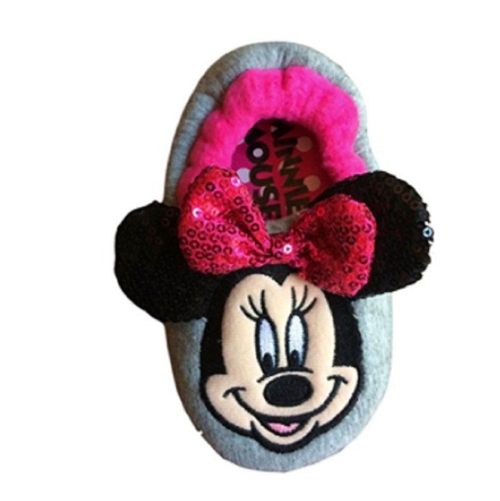 Minnie Mouse Girls Slipper For Toddlers Sequins Pink (13/1 Large) by Disney Jr (Image #1)