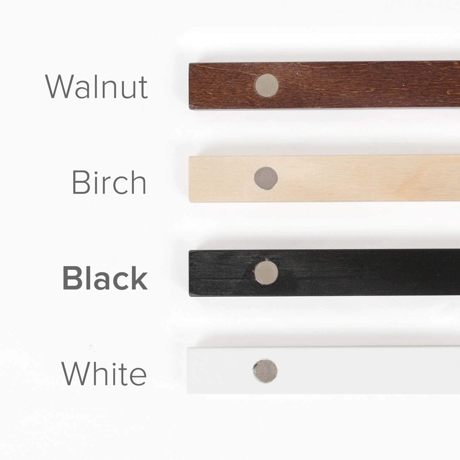Stiicks 25 Wide Magnetic Poster Frame Hanger in Walnut Premium Plywood and Magnets Strong Enough to Hang Any Length
