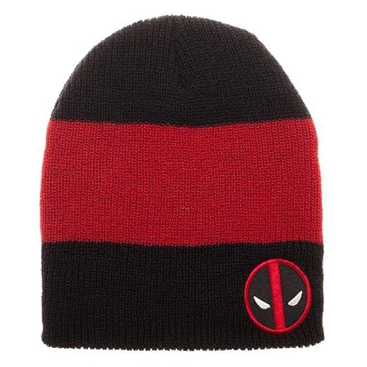 288f6507d78 Amazon.com  Marvel Comics DeadPool Logo Roll Slouch Beanie Cap Hat ...
