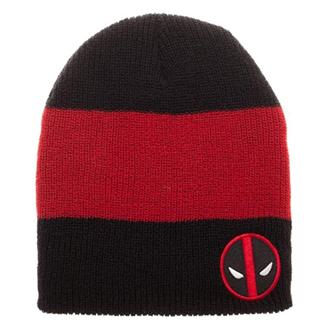 a139d570408 Image Unavailable. Image not available for. Color  Marvel Comics DeadPool  Logo Roll Slouch Beanie ...