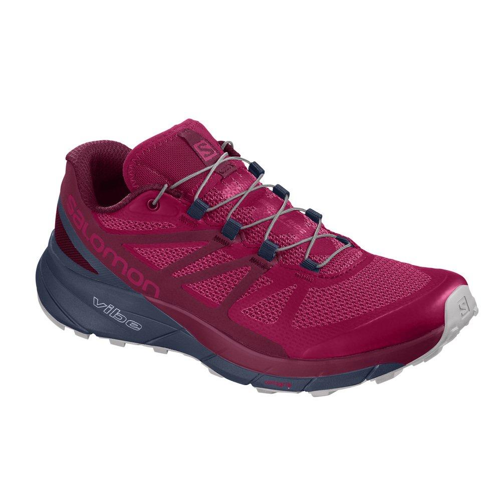 Salomon Sense Ride Running Shoe - Women's B078SZ1FQV 8.5 M US|Cerise/Navy Blazer/Vapor Blue