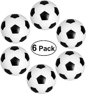 Toyvian NUOLUX Table Soccer Fossball Futbolín Mini Bola en Blanco ...