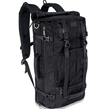 Travel Backpack, 3 Ways Carry-on Luggage Backpack Waterproof Durable Travel Hiking Daypack