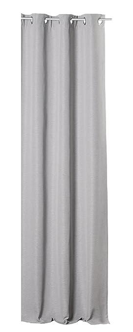 Haus und Deko Canada Thermovorhang mit /Ösen aus Polar Fleece 140x260 cm meliert anthrazit