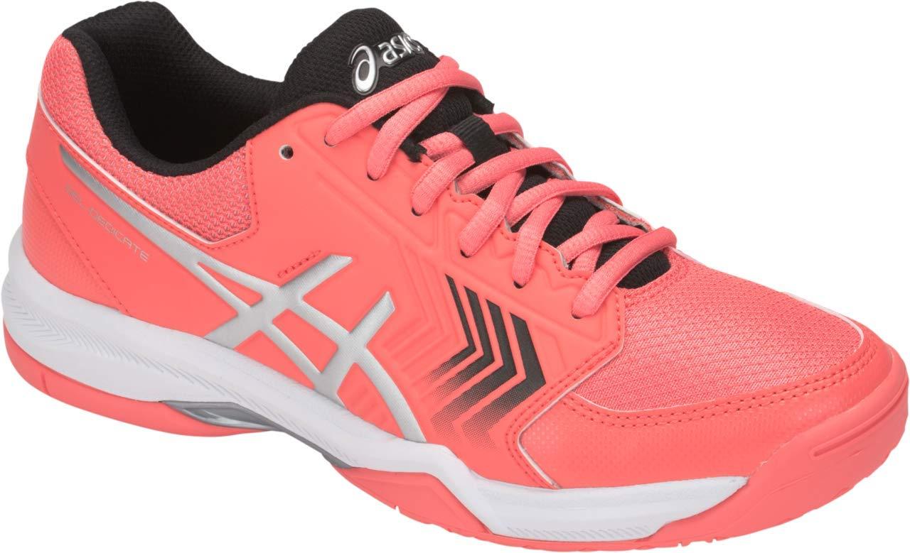 ASICS Gel-Dedicate 5 Women's Tennis Shoe, Papaya/Silver, 5.5 M US by ASICS (Image #1)
