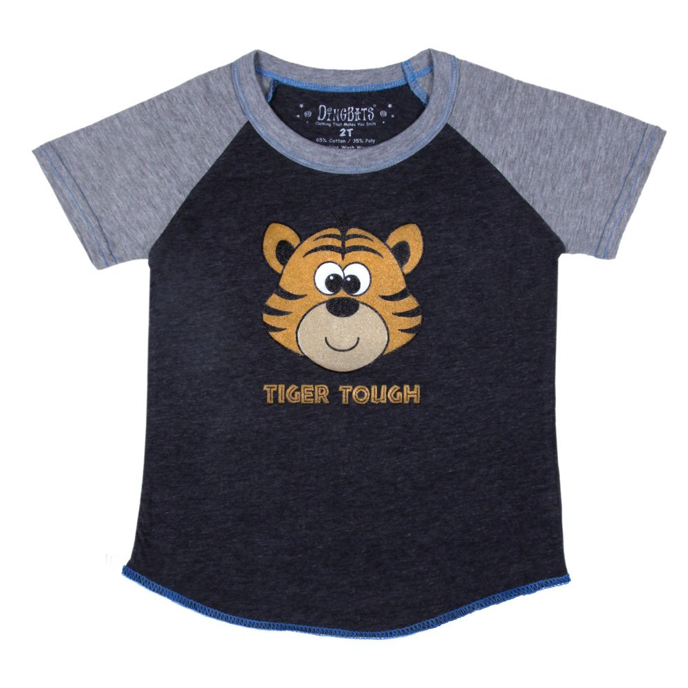 Dingbats Printed Boys T-Shirt with Fun Tiger Theme
