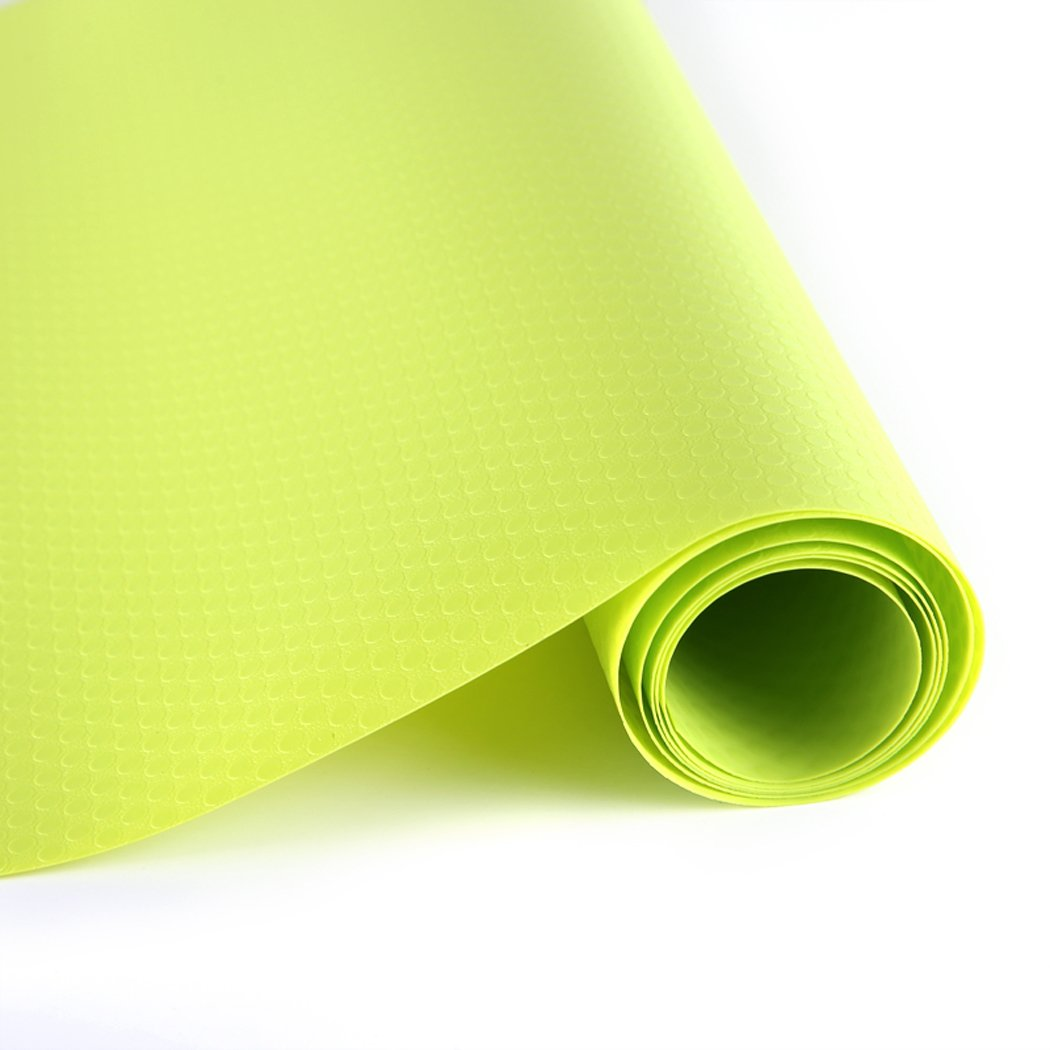 EVA Washable Waterproof Non-adhesive Shelf Drawer Liner Roll for Refrigerator kitchen Bathroom Cabinets Drawer Cupboard (Green) MagicValley GL001
