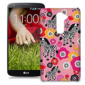 Phone Case For LG G2 (International) - Zebra Blossoms Pink Snap-On Hard by lolosakes