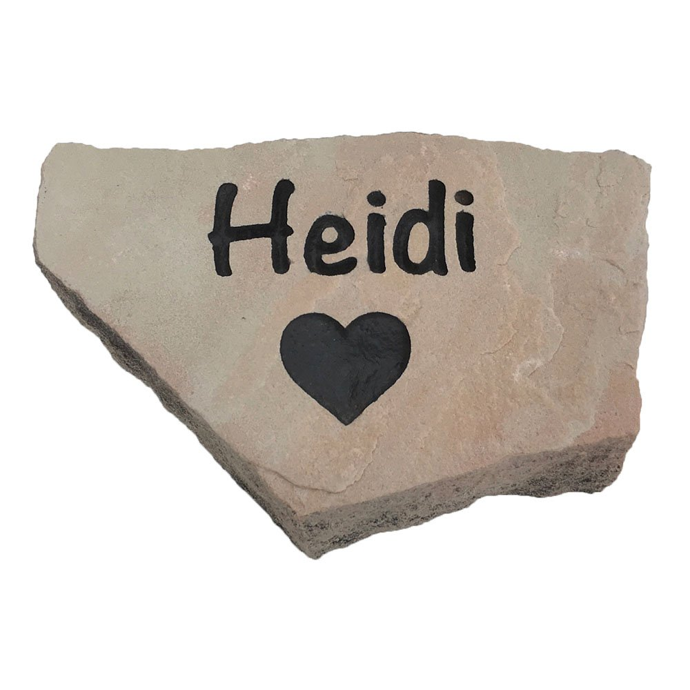 Accent Direct Personalized Pet Memorial Stone, Custom Engraved Natural Stone, Grave Marker, Garden Stone, Desk or Shelf, Indoor or Outdoor (Buckskin)