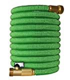 2017 Improved Design Expandable Garden Hose with Brass Connectors, by Golden ...