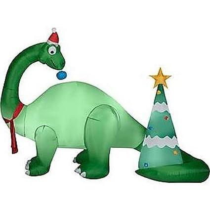 Amazon.com: Navidad Hinchable 9 1/2 ft Brontosaurus con ...