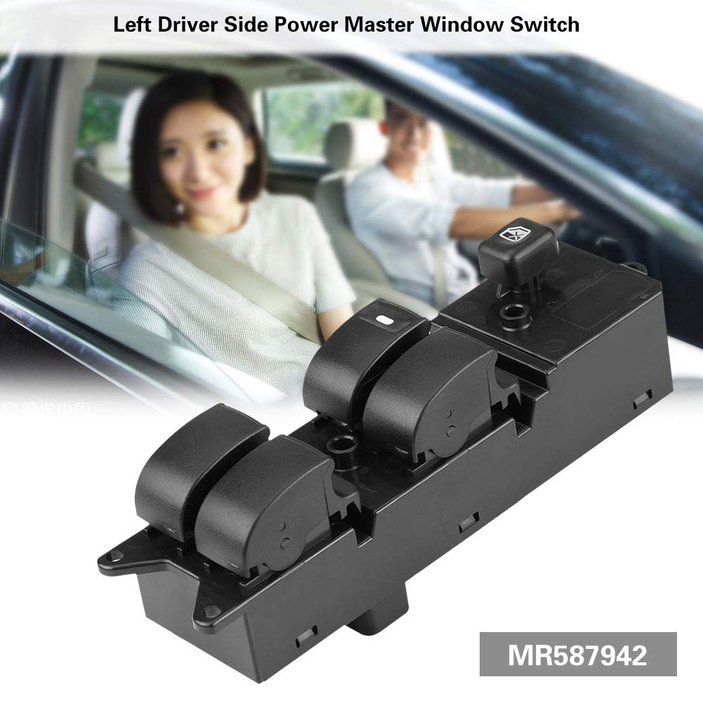 Cuque Power Master Window Switch MR587942 Driver Side Auto Power Electric Window Control Switch Button for Lancer 2008 2009 ABS Plastic Black