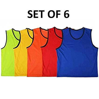 30c28aee7 Amazon.com : 6 Scrimmage Pinnies Vests Mesh Soccer Practice : Sports &  Outdoors