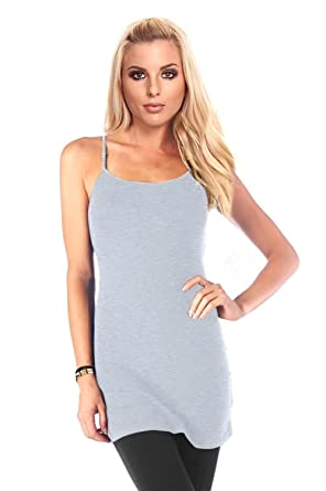 87b755f3b9 Simlu Cotton Cami Spaghetti Strap Tank Tops Pack Plus Size Camisoles for  Women