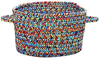 "product image for Capel Sea Pottery Bright Multi 0' 20"" Basket Braided Rug"