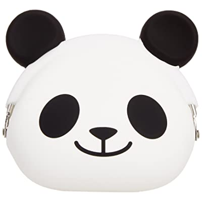 P+G Design Mimi POCHI Friends Silicone Coin Purse, Panda Smile - Cute Change Pouch for Money, Makeup and Hair Accessories - Authentic Japanese Design - Durable Quality: Home & Kitchen