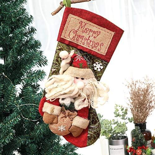 新しいクリスマスソックスウィンドウの装飾キャンディバッグ,Santaclausx2pcs