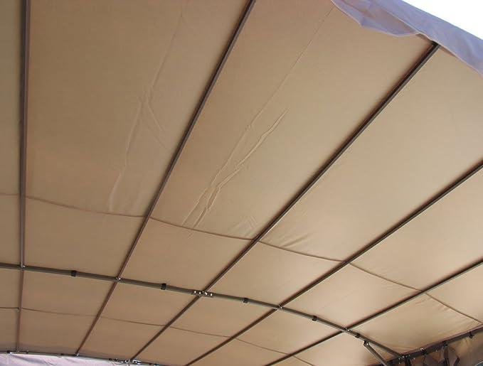 Grasekamp Pérgola Mallorca ratán. 3 x 4 m Taupe: Amazon.es ...