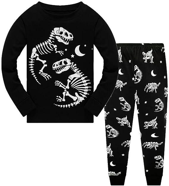 Amazon.com: Pijama para niños con diseño de dinosaurio que ...