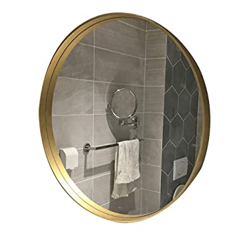 Amazonde Hfyu Kompaktspiegel Wandspiegel Rund Gold Großer