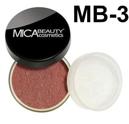 Bundle 2 Items MicaBeauty Full Size Mineral Blush Itay Premium Blush Brush MB3 Mocha Mist