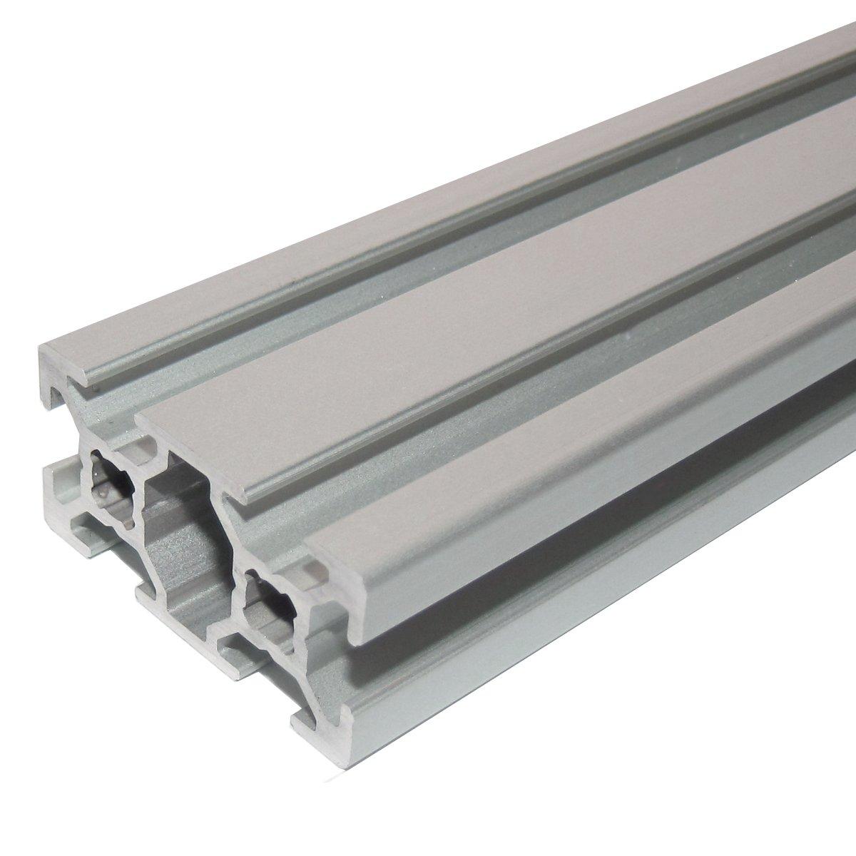 /Taglio 50/ 2000/mm Profilo in alluminio 20/x 20/tipo B scanalatura 6/
