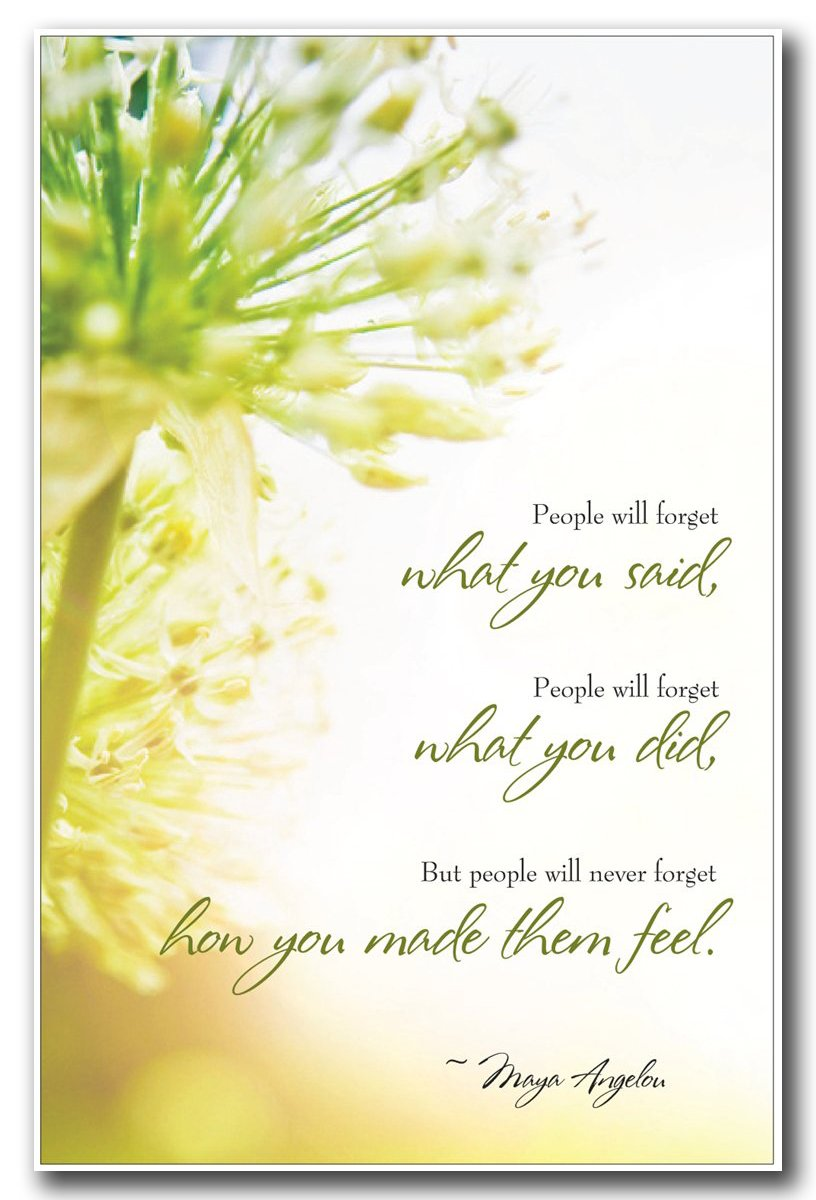 Amazon motivational inspirational poster maya angelou amazon motivational inspirational poster maya angelou quote people will forget what you said people will forget what you did but people will kristyandbryce Images