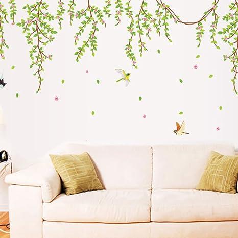 Mural Hazlo tú mismo árbol Pájaros Vinilo Pared Adhesivo Decoración Hogar De Pared Calcomanías Para Niños Habitación
