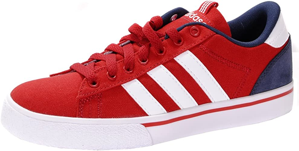 adidas NEO ST Daily Canvas Low Trainers - Red 11 UK: Amazon.co.uk ...