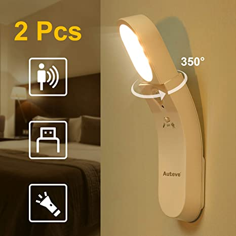 Amazon.com: Auteve - Luz nocturna con sensor de movimiento ...