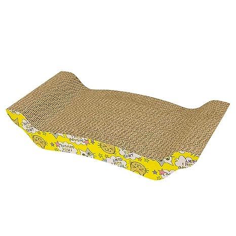 Occitop - Almohadilla de Papel Corrugado para rascar Gatos, para Cama y Garras