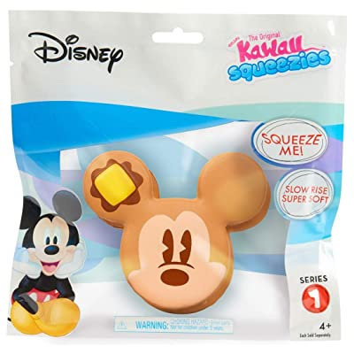 Kawaii Just Play Squeezies Mickey Pancakes, Multicolor: Toys & Games