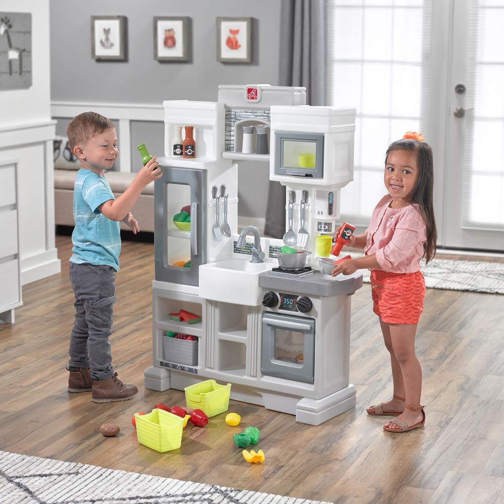 Step2 Downtown Delights Kitchen Kids Playset, Gray by Step2 (Image #2)