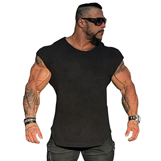 fc0f496c617da Muscle Killer Mens Workout Gym Tanks Muscle Cut Out Shirts Drop Shoulder  Tee T-Shirts