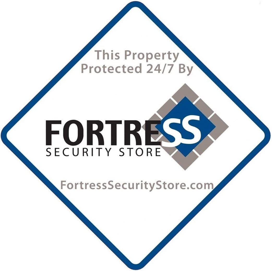 Fortress Window Sticker Pack of 4 Weather Resistant Vinyl with Adhesive Backing 4 by 4 inches