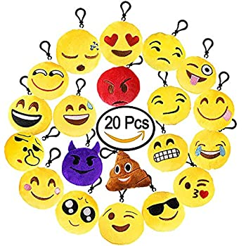 Amazon.com: OHill Emplu-23 Emoji Plush Bean Bag in Pdq: Home ...