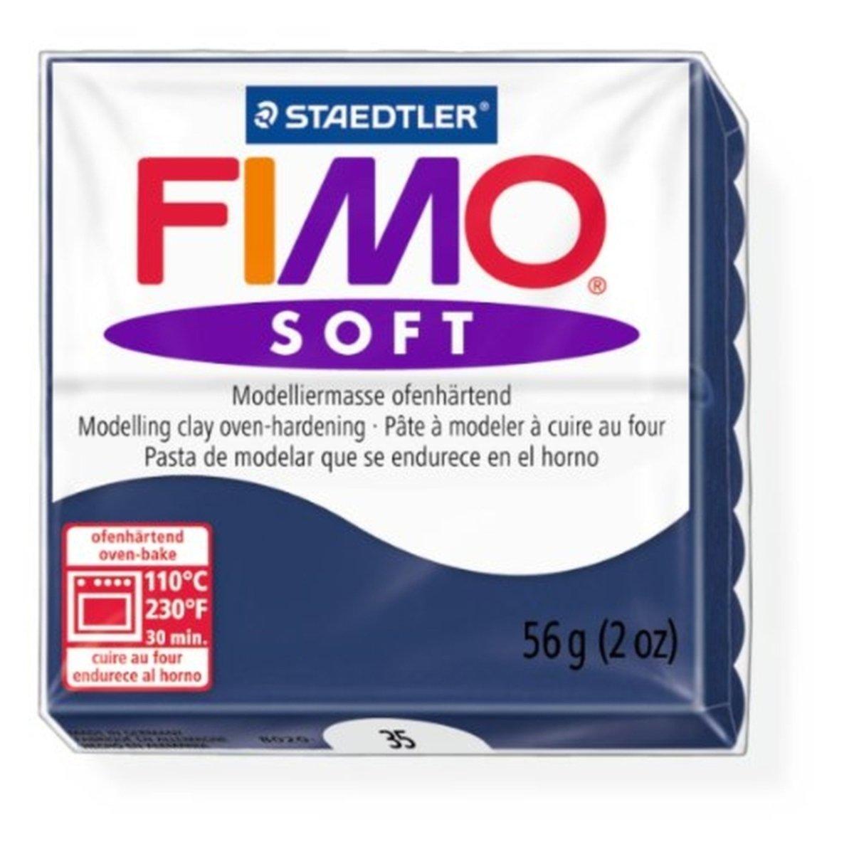 Staedtler Fimo Soft Windsor Blue (35) Oven Bake Modelling Clay Moulding Polymer Block Colour 56g (1 Pack)