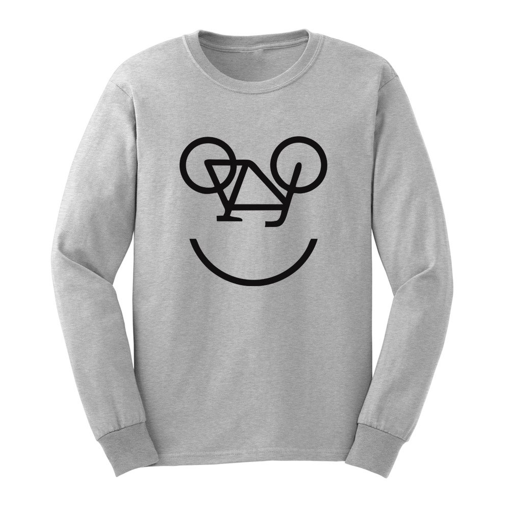 Loo Show S Bicycle Smile Face Funny T Shirts Casual Tee