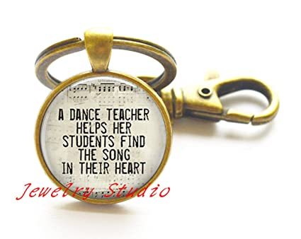 Encantador llavero de moda, regalo para profesor de danza ...