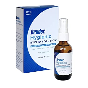 Bruder Hygienic Eyelid Solution – Pure Hypochlorous Acid Spray Formula  Helps Cleanse and Soothe