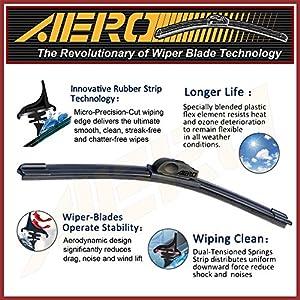 "AERO 22"" + 22"" OEM Quality All Season Beam Windshield Wiper Blades (Set of 2)"