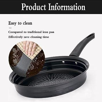 JIEJIEDA Pan de acero inoxidable no magnético engrosamiento ...
