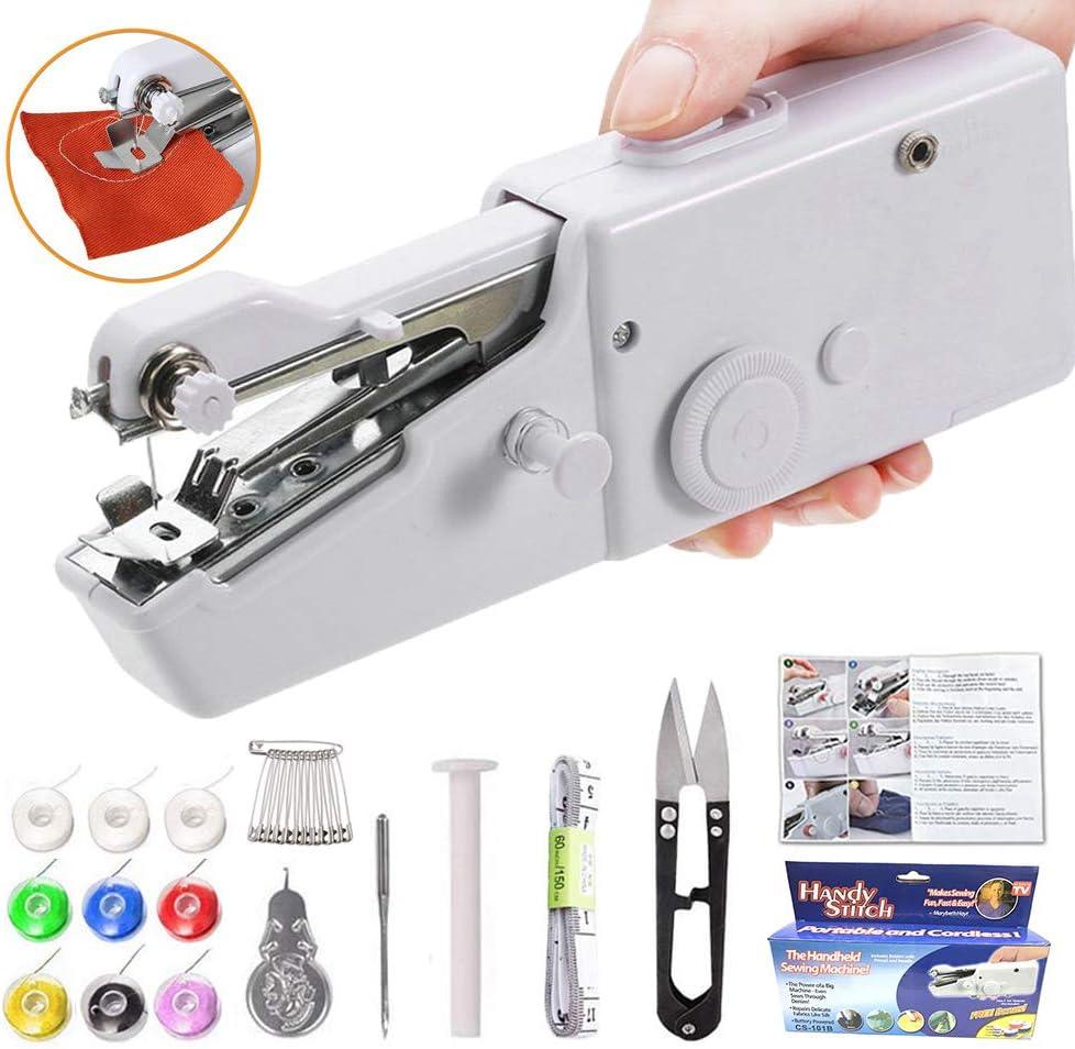 Yibaision máquina de coser de mano, mini grapadora pequeña ...