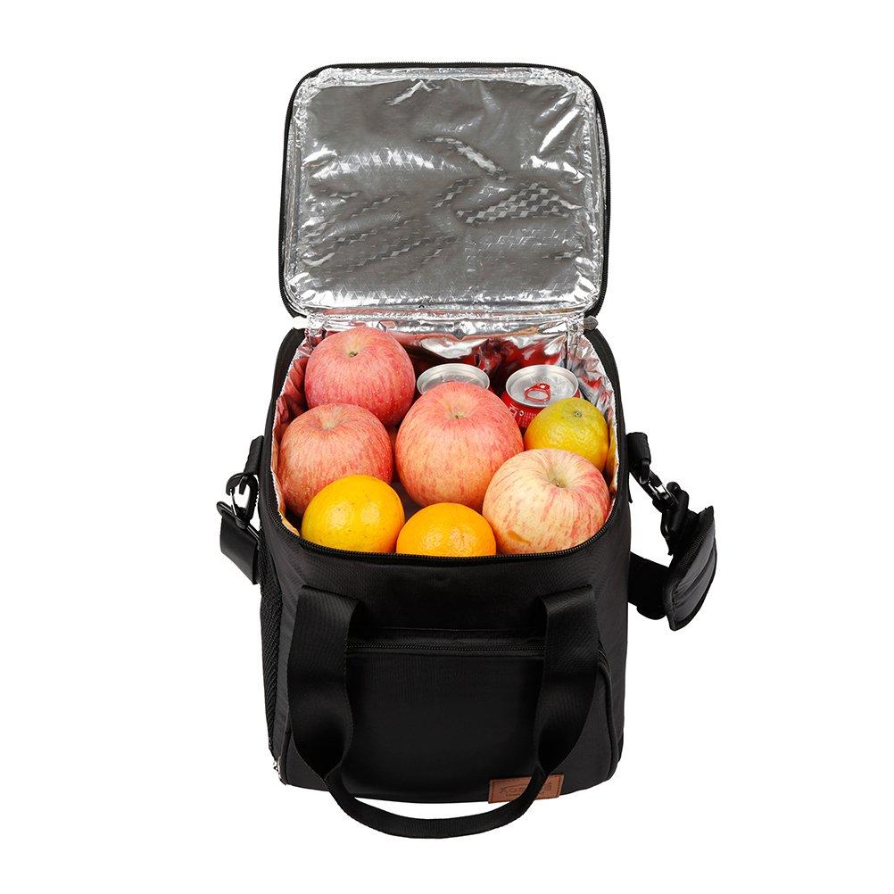 Aosbos Sac Repas Isotherme pour Déjeuner Lunch Bag Portable 15L PA818Bk